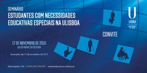 Cartaz Seminário - Estudantes com Necessidades Educativas Especiais na ULisboa